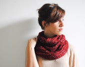 SALE Red Chunky Cowl Scarf, Red Cowl Scarf, Cowl, Neck warmer, Poppy Chunky Cowl