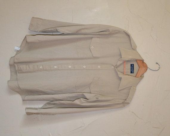 Vintage Khaki Dress Shirt Men 39 S Button Up Shirt Military