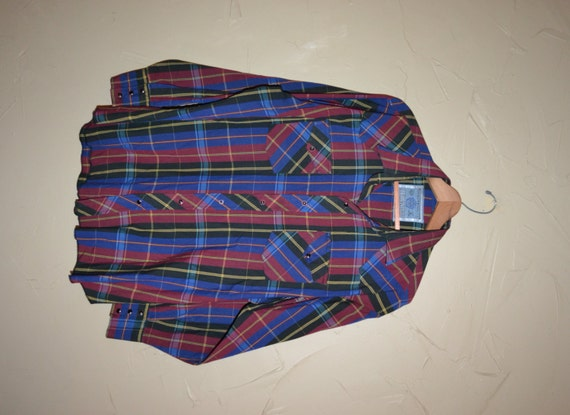 Vintage karierte Plad Dress Shirts