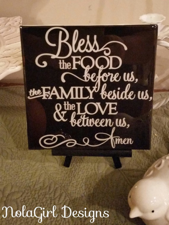 Items similar to kitchen decoration bless this food home for Plaque decorative cuisine