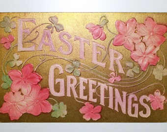 Vintage Easter Greetings Postcard 1910