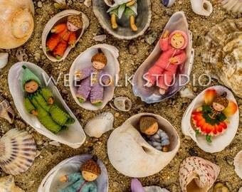 4 card set - Beach Babies - wee folk