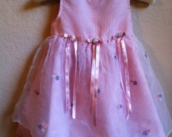 Little Girls Pink Dress By Hearts & Flowers