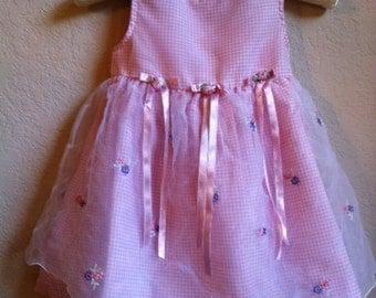 Little Girls Pink Dress By Hearts & Flowers