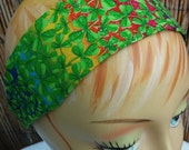 St.Patricks Day Glitter Rainbow Headband One Size Fits All 100% Cotton Fabric