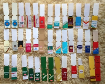 HUGE Lot Vintage Cigarette Vending Machine Labels (Player's, Craven, Export A, Palm Mall, Cameo, and more)