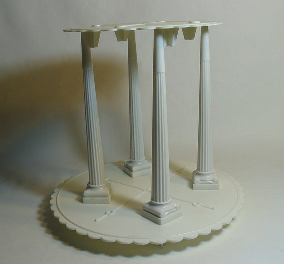 wedding cake separator plates and pillars items similar to 70 s vintage wilton wedding cake set push 24273