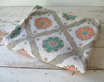 Vintage Mid Century Bedspread Coverlet Cotton Blanket Twin