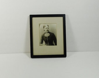 Framed antique portrait – 19th century photograph