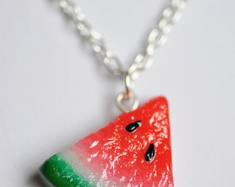 Watermelon - Polymer Clay Necklace