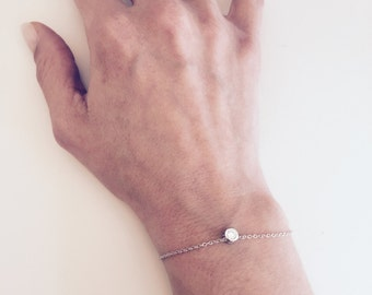 Diamond bracelet, CZ dainty everyday bracelet, Minimalist bracelet