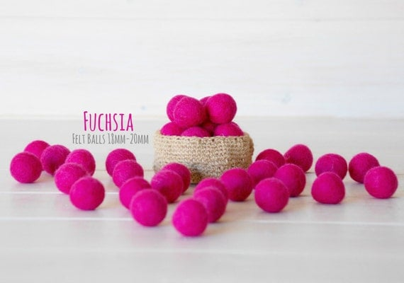100 Doors Level 18 Pink Balls 2cm Felt Balls 100 Wool Felt