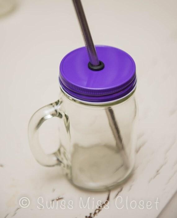 Purple One Piece Regular Mouth Lid DIY Drinking Jars, Weddings, Parties, Everyday Use