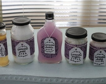 Customizable Face and Body Bath Set- You Choose The Scent