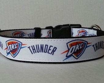 OKC Thunder Adjustable Dog Collar