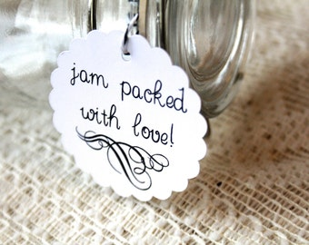 Jam Packed With Love, Wedding Favor Tags, Favor Tags, Gift Tags, Hang Tags, Wedding Favors, Jelly Jar, Jam Jar