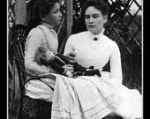 Fridge Magnet Helen Keller and her teacher Anne Sullivan
