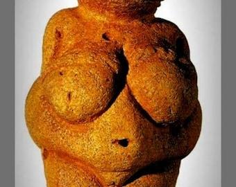 Fridge Magnet image of Prehistoric Venus of Willendorf Female Fertility Figure  23,000 B.C.E.