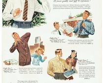 1947 Reliance Men's Clothing Christmas Advertisement