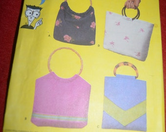 Simplicity 5567 Bags in Four Styles Sewing Pattern - UNCUT