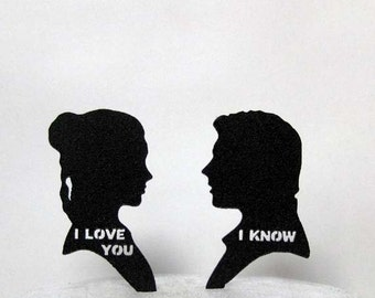 Wedding Cake Topper - StarWars Leia & Hans Solo