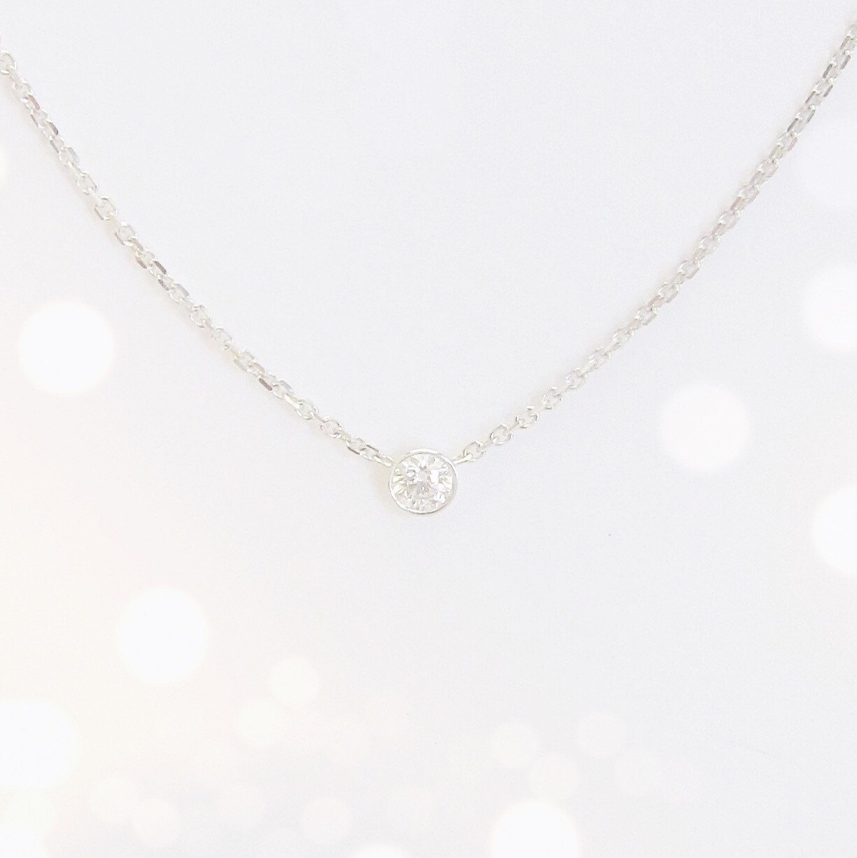 Diamond Solitaire Necklace (14k White Or Yellow Gold)