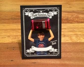 Kids Valentines, PRINTS or DIGITAL, Custom Photo Valentine Day Cards, free shipping