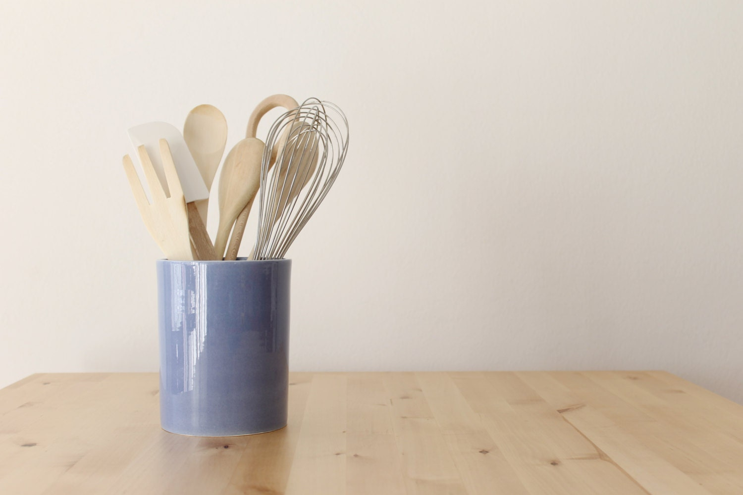 blue canister utensil container rev your kitchen optional
