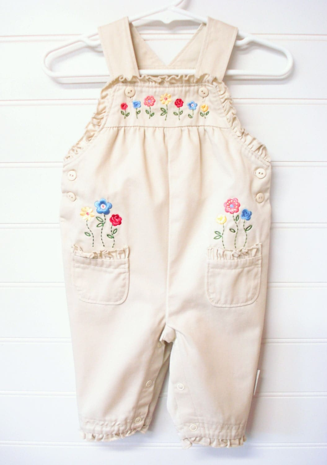 vintage baby clothes baby overalls by onceuponadaizy