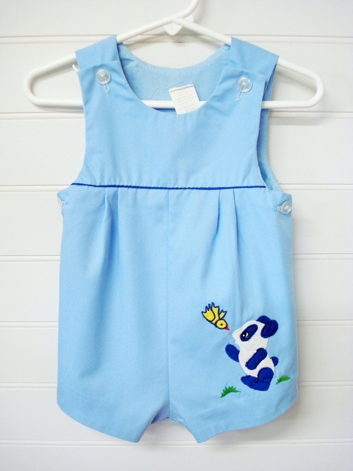vintage baby clothes baby boy romper light blue jon jon style