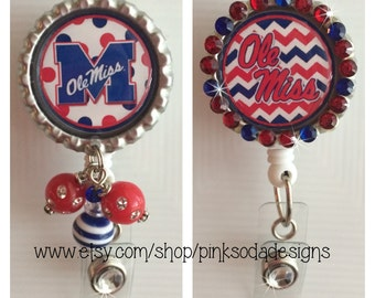 Ole Miss Inspired - Retractable ID Badge Holder