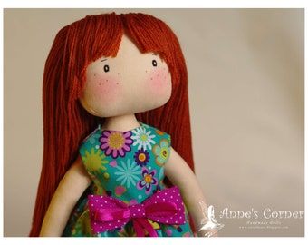 Susie - hand made rag doll - by AnneCorner