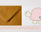 Handmade greeting cards pack, Turtles Handmade notecards, Cute Turtle Blank note cards pack of six, Thank You notecards