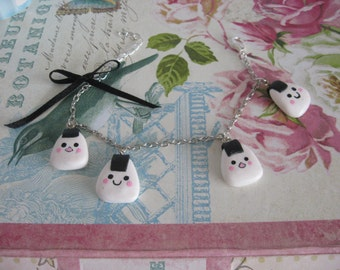 Kawaii Onigiri Charm bracelet