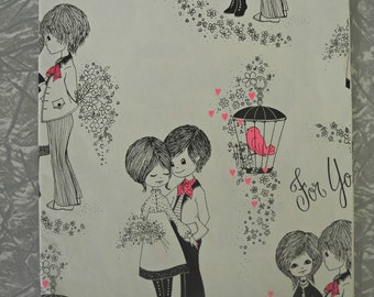 Vintage Wrapping Paper Engagement