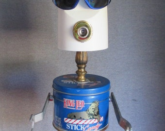 MR. COOL- Found object robot sculpture~assemblage