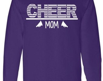 Cheer Mom Long Sleeve Shirt, Cheer Shirt, Cheerleader, Megaphone