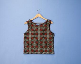 SALE ! Oriental patterned tank top