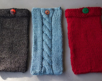 CUSTOM Knitted Kindle Sleeve with Button