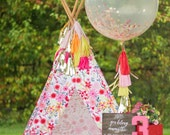 Multi Color Jumbo Confetti Balloon with Tassels - One Stylish Party