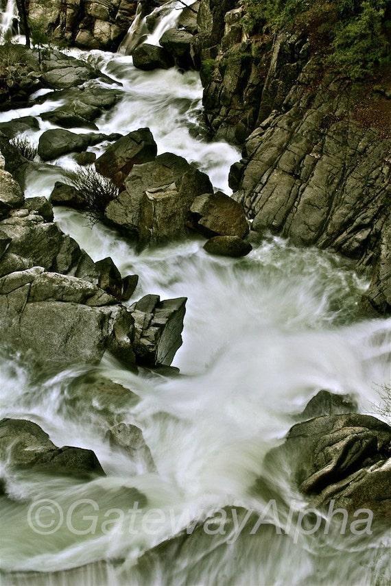 River Digital Print, Instant Download Print, Yosemite Digital Photo, Landscape Photography, Canyon Photograph, Long Exposure Digital Print