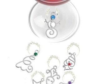 Christmas Wine Glass Charms, Holiday Wine Charms, Christmas Glass Tags, Christmas Glass Markers, Wine Charms, Christmas Gifts, Holiday Gifts