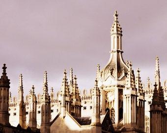 Cambridge Print - King's College Rooftops Fine Art Photograph