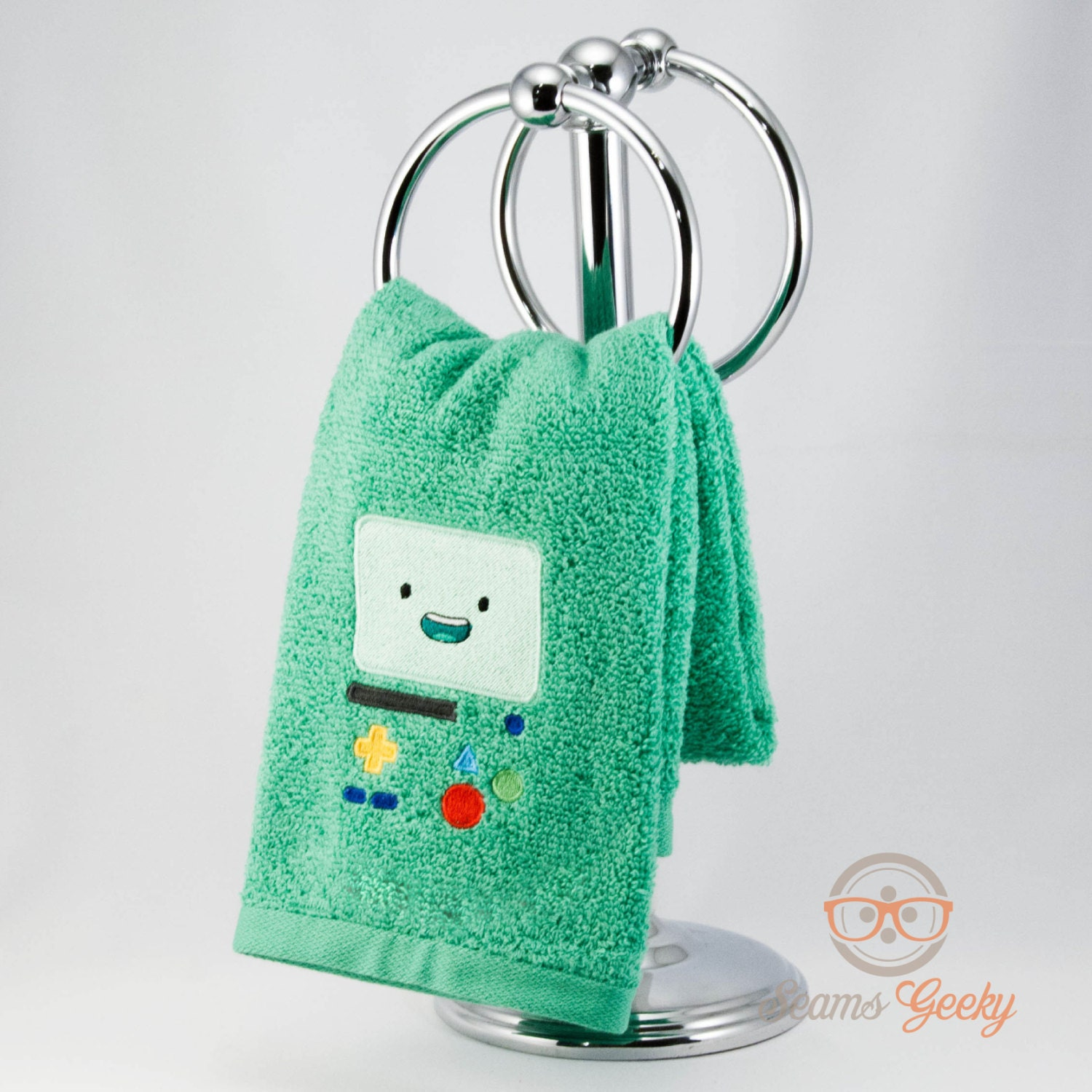 zoom. Adventure Time BMO Inspired Embroidered Hand