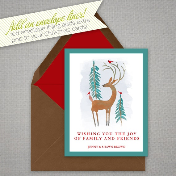 Christmas Card Personalized Holiday Greeting Card With