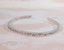 Wholesale Boho, Wholesale Jewelry, Aztec Stacking Bangle Bracelet, Wholesale Bracelet, Sterling Silver, Gypsy Bangle, Boho Bracelet, Boho
