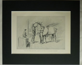 1920s Vintage Equestrian Print of a Race Horse Lionel Edwards art, horse racing decor - Available Framed - Stable Picture - Old Equine Gift
