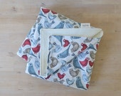 Organic Baby Blanket in Bird Song