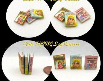 LITTLE HOUSE On The PRAIRIE Set Dollhouse Miniature Books 1:12 Scale Illustrated Readable Books
