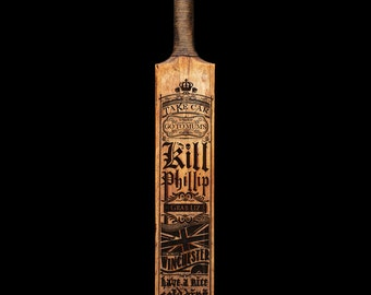 Shaun of the Dead laser etched cricket bat
